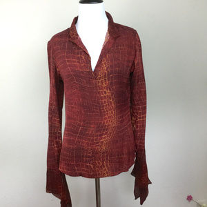 Diane Von Furstenberg Silk-Blend Blouse 10